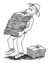 Zbiranje starega papirja | Osnovna šola Šempas